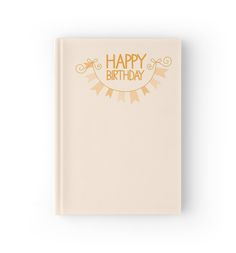 Happy Birthday bunting hardcover journal A5 by jazzydevil