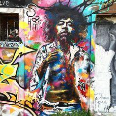 • J I M I • #JimiHEndrix #Music #Musique #Street #Art #Legend