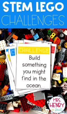 Fun ideas for learning with Legos!!