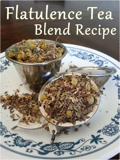 DIY Flatulence Herbal Tea Blend Recipe... 1 part Caraway Seeds 1 part Catnip Leaves 1 part Dill Seed 2 parts Anise Seed 3 parts Chamomile Flowers