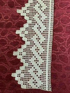 Book of Filet Crochet and cros Crochet Boarders, Crochet Edging Patterns, Crochet Lace Edging, Crochet Trim, Crochet Stitches, Crochet Edgings, Crochet Simple, Love Crochet, Filet Crochet