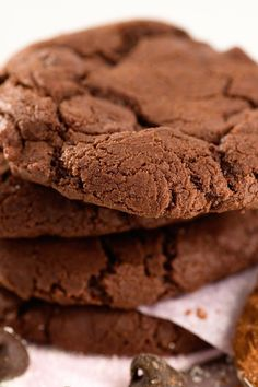 Low Fat Double Chocolate Chip Cookies – Weight Watchers (1 Point)