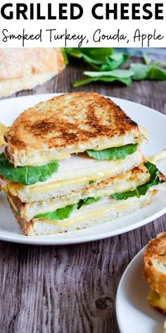 There's nothing like a grilled cheese and a cup of soup to usher in colder weather. This Smoked Turkey, Gouda, Apple Grilled Cheese is perfect for fall!