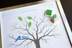 thumbprints in place of leaves - first page of guestbook