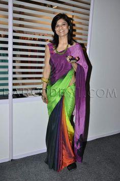 Colorful satin sari