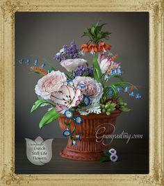 {Dutch Still Life Floral Arrangement/Cake Made Out of Gumpaste and Fondant}