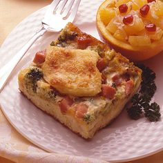 from land o lakes ham broccoli strata ham broccoli and cheddar cheese ...