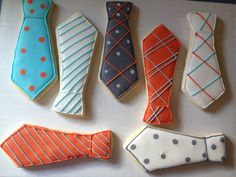 Neck Tie Sugar Cookies by Just4YouTreats on Etsy