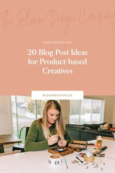 20 Blog Post Ideas for Product-based Creatives | The Bloom Design Company Instagram Marketing Tips, High Quality Images, Creative, Blog, Ideas, Design, Blogging, Thoughts