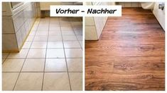 Renovate tiled floors – quickly & dust-free – Trebes interior and interior - home diy remodeling Diy Garden Decor, Vinyl Flooring, Amazing Gardens, Cover Design, Storage Spaces, Tile Floor, Home Improvement, Sweet Home, New Homes