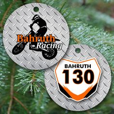Personalized KTM Number Plate Motocross Ornament