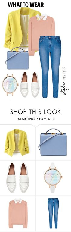 """""""lemon and pink"""" by style-insid on Polyvore featuring moda, Mark Cross, RED Valentino, City Chic y plus size clothing"""
