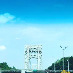 George Washington Bridge NYC  heading to @wakefielddesign and @ny_now space 2827