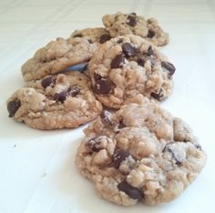 Chocolate Chip Coconut Chewies. Probably my favorite cookie ever.  Soft, chewy and chocolatey!