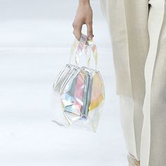 Sheer Plastic Bags Trend for SS 17: Iridescent handbags at Delpozo Spring Summer 2017 NYFW.