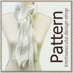 Chevron Lace Scarf  Crochet Pattern PDF  INSTANT by knotsewcute $3.99