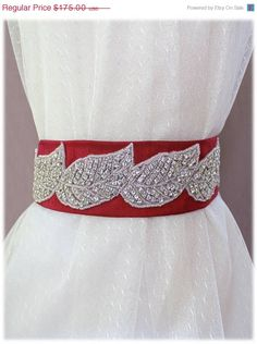 Our Aida Belt from our Something New Collection! SALE  ENTIRE STORE Wedding Crystal Beaded by SomethingTreasured8, $140.00  http://www.etsy.com/shop/SomethingTreasured8