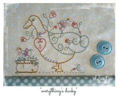 Everything's Ducky - stitchery