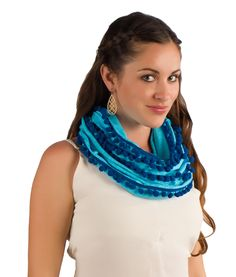 Our Buddha Infinity Scarf Collection is made from pre shrunk, 100% Jersey Cotton. Each scarf is framed with a flurry of pom poms for a playful finish. This style is inspired by the cultural influence of Thailand! Details & Care: Width: 19 inches Length: 65 inches Material: 100% cotton Color: Island Blue with Dark Blue […]