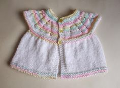 Lazy Daisy All-in-One Baby Top ~ Small Premature These little baby topsare knitted top-down  Tips:  · Cast off loosel...