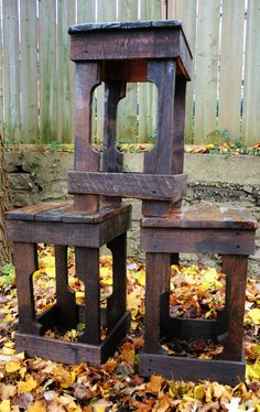 Pallet Wood Barstool (Made to Order). $50.00, via Etsy. The design for our stools and benches Adirondack chairs from pallets too?