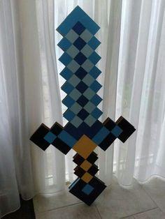 Minecraft zwaard surprise gemaakt voor een jongetje uit de klas van mijn zoon.: