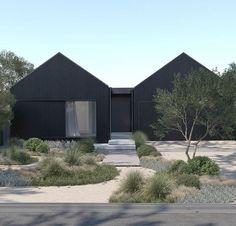 Coastal Landscaping, Backyard Landscaping, Black House Exterior, Ideas Prácticas, Australian Garden, Garden Landscape Design, Plantation, Plant Design, Home Projects