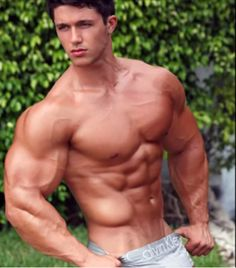 Naked muscle male