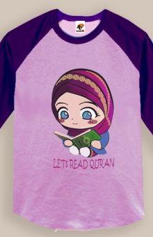 Kaos Anak Muslim Lets Read Quran,kaosbechamp.com