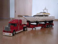 Lego Semi with boat