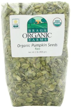 Braga Organic Farms Pumpkin Seeds, Raw, 2 Pound -- Hurry! Check out this great item : Fresh Groceries