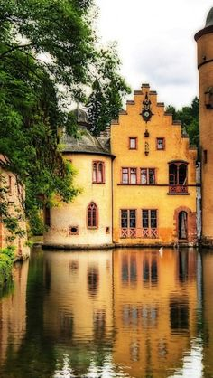 Mespelbrunn Castlea a medieval moated castle - Lower Franconia, Germany