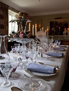 Crystal Glass | Cut Crystal | William Yeoward - Traditional Style - Gracious Entertaining Love, Love, Love this crystal