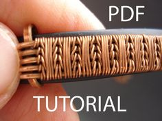 Tutorial wire weaving pdf tutorial jewelry par MargoHandmadeJewelry