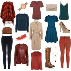 Autumn Palette Capsule Wardrobe from ClothingByColour.com Powerhold Skinny, Faux Fur Lined Knee High Leather Boot, Leather Waisted Jacket, Crescent Crossbody, Pom Pom Jumper, V Front V Back Cami, Longline V Tee, Single-Breasted Trench Coat, Waterfall Front Trench Coat, Sleeved Knit Dress, Office Rapid Court Nude Heels, Grab Handle Clutch Bag, Stone chain necklace, Mesh Strap Rose Gold Dial Watch, Wide Fit Orange Lace Up Plimsolls, Skinny Jeans, V Neck Sleeveless Top, Orange Check Wrap