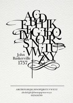 Typography posters related to the history of design on the Adweek Talent Gallery