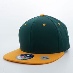 5b73e2134f9 Shop Dark Green and Gold Two Tone Pit Bull Blank 6 Panel Cotton Snapback  Hats Wholesale