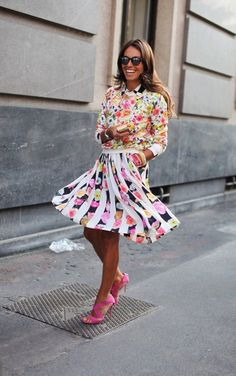 Parisienne so many patterns, electric pink, oh so chic