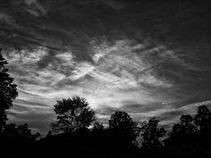 Sunset in black and white. ... #sunset #sky #clouds