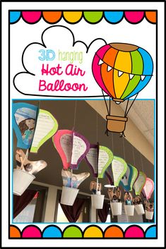 3D Hot Air Balloon t