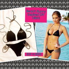 DIY bikini Walmart $5 separates, embellishments from lobby ~ $15-20