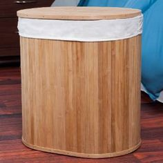 Check out the Lavish Home 82-1350D Bamboo Clothes Hamper with Lid and Removable Liner