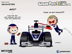 formula one cartoons | Continental Circus: Formula 1 em Cartoons: os 600 GP's da Williams (GP ...