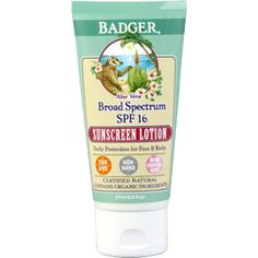Mineral Sunscreen Lotion SPF 16 Aloe $15.99 for 2.9 oz EWG rated 2 At Whole Foods (maybe Lassens)