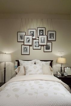 photo hanging idea from