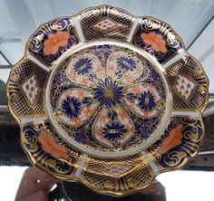 Antique English Porcelain : A Royal Crown Derby Trinket Tray - Imari Pattern