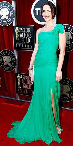 Emily Blunt 2012 SAG Awards #celebrities #celebrityfashion #redcarpet