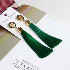 Exaggerated Rhinestone Long Tassel Earrings 2017 New Arrival Fashion Brincos Bijoux Crystal Dangle Earrings Women's Jewelry  Price: 1.63 USD