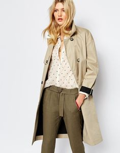 Small dots on shirt with olive pants
