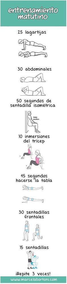 17 Guías visuales de ejercicio que te motivarán a ponerte en forma There are many studies that prove that exercising in the morning is better [. Herbal Remedies, Natural Remedies, Estilo Fitness, Gym Time, Excercise, Reiki, Gym Workouts, Herbalism, Fitness Motivation